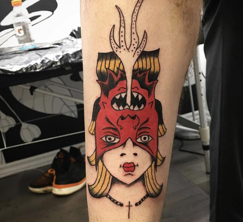 Demon Girl Reversible Tattoo
